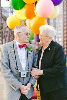 Nina eGramps estão casados há 61 anose nunca tiveram fotos juntos, a não ser uma únicado próprio casamento. Foi aí que a fotógrafa Lauren Wells —esposa