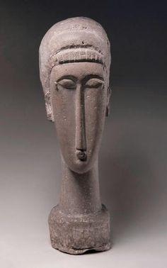 < previous 96/157 next >  Amedeo Modigliani Italian, 1884–1920 Head 1911–1912Limestone