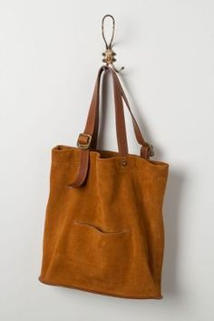 Huxley Tote  15x16x5.25deep  498$  i can make this  2 leather straps-use belts   suede body inner  and outer pocket