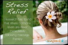 Lower stress levels with #massage therapy
