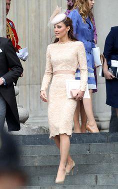 The Queen's Diamond Jubilee Thanksgiving Service Kate Middleton in Alexander McQueen