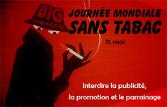 31 mai #sanstabac : Journée mondiale sans tabac - Six millions de morts, victimes du tabac, 600 000 personnes tuées en raison d'une exposition involontaire à la fumée et 63% des décès dus aux maladies non transmissibles imputables au tabac : ASSEZ! http://www.who.int/campaigns/no-tobacco-day/2013/fr/index.html