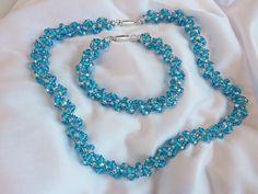 pretty embellished spiral necklace set