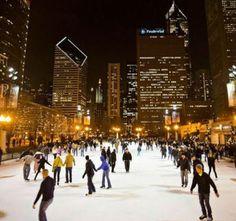 Millennium Park McCormick Tribune Ice Rink  #Yuggler #KidsActivities #IceSkating