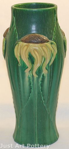 ◭ Penchant for Pottery ◮ Door Pottery Sunflower Vase from Just Art Pottery