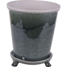 Kruka med fat som passar både inne och ute. Ally släpper igenom överskottvatten ned på fatet. Finns i glaserade färger såsom grön, blå och gråblå. ...