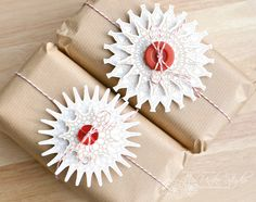 Packaging featuring the digital cut files: Decorative Doilies - The Hands of Time. By DT Member Amy Wanford (Aimes) Fashion Studio, Doilies, Happy Holidays, Christmas Cards, Wraps, Presents, Packaging, Seasons, Yup