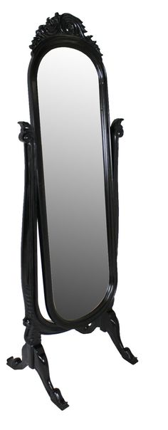 French Moulin Noir Cheval Mirror
