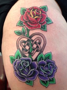 Roses & Celtic Heart. Done by Ram Lee @ Traverse City Tattoo