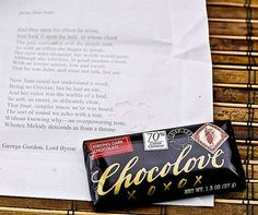 Literary Luxury Chocolates (UPDATE) - The Chocolove Chocolate Bars Unwrap a Love Poem (GALLERY)
