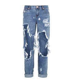 How To Wear Boyfriend Jeans In Summer Purses 70 Best Ideas Cute Ripped Jeans, Torn Jeans, Women's Jeans, Patch Jeans, Blue Jeans, Jean Rapiécé, Low Rise Boyfriend Jeans, Cute Pants, Painted Jeans