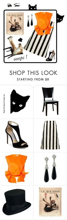"""""""Le Sourire (The Smile)"""" by kindlefraud ❤ liked on Polyvore featuring Jimmy Choo, Marni, Maison Rabih Kayrouz, Kenneth Jay Lane, November and Scala"""