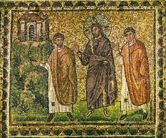 Christ and Samaritan woman at the well- Unknown Artist century Basilica di Sant'Apollinare Nuovo Ravenna Emilia-Romagna Region) ITALY Road To Emmaus, Ravenna Mosaics, Ravenna Italy, Byzantine Art, Byzantine Mosaics, Early Christian, Christian Art, Christian Women, Orthodox Icons
