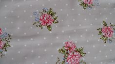 TAUPE POSY DOTS VINYL OILCLOTH PVC WIPE CLEAN TABLE CLOTH CO click for sizes