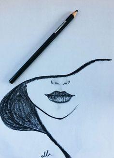 Drawing, 2019 dibujar arte, dibujos a lápiz ve cosas de dibujo. Easy Pencil Drawings, Cool Art Drawings, Drawing Sketches, Drawing Ideas, Drawing Tips, Face Drawing Easy, Tumblr Drawings Easy, Sketch Ideas, Cartoon Drawings