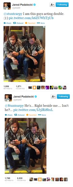 Jared Padalecki and Mike Carpenter