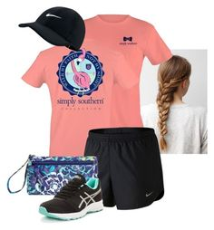 """""""Untitled #179"""" by siierak ❤ liked on Polyvore featuring NIKE, Vera Bradley and Asics"""