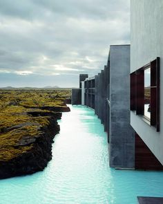 """ALL OF ARCHITECTURE on Instagram: """"#AllofArchitecture Swipe left for more beautiful photos . The Retreat at Blue Lagoon Iceland is designed by Basalt Architects and is…"""" Exposed Concrete, Blue Lagoon, Hotels And Resorts, Decoration, Architecture Design, Architects, Vacation, Iceland, Places"""