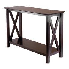 Table - This looks almost identical to the sofa table Ryan built for me! Except mine has lights. :)