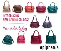 Epiphanie camera bags new spring colors! Pre-order today. www.epiphaniebags.com