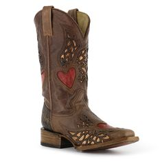 Corral Women's Red Heart Inlay Western Boots