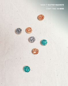 Tiny Glitter Magnets | 18 Miniature Craft Projects That Will Melt Your Heart