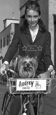 "Love this!  Audrey and her dog ""Mr Famous"""