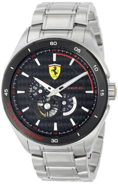 Ferrari Men's 0830188 Gran Premio Analog Display Quartz Silver-ToneWatch by Ferrari -- Awesome products selected by Anna Churchill Best Watches For Men, Cool Watches, Ferrari Watch, Automotive Solutions, Casio Watch, Stainless Steel Case, Car Accessories, Chronograph, Quartz