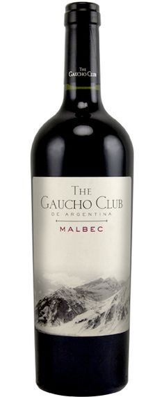 Gaucho Club Malbec, a Malbec Red wine from Argentina, Mendoza by Prestige Wine Group mmmm Wine Label Design, Bottle Design, Malbec Red Wine, Bordeaux Wine, Wine Vineyards, Wine Brands, Wine Packaging, In Vino Veritas, Wine Time