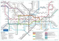 awesome Map of london underground
