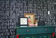 chalkboard wall, words of encouragement