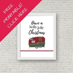 50 Beautiful RV Camper Small Space Holiday Decor To Cheer You Up. There's a lot you can do in order to your bathroom by utilizing ceramic tiles. A little bathroom off the face of the bedroom will give your guest with. Diy Christmas Decorations For Home, Christmas Fun, Holiday Decor, Free Christmas Printables, Free Printables, Dining Booth, Craft Desk, Diy Wall Decor, Wall Decorations