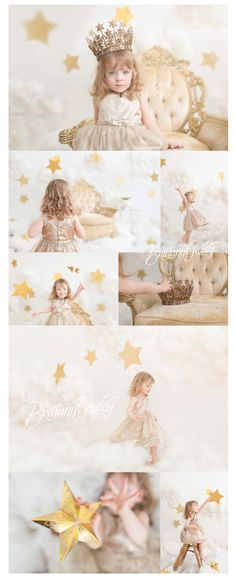 Cloud 9 Dream Session Stars Clouds Photo Shoot by Brittany Gidley Photography in Cleveland, Ohio. Photography Mini Sessions, Photography Themes, Children Photography, Kids Studio Photography, Star Cloud, Cloud 9, Fond Studio Photo, Photo Bretagne, Toddler Pictures