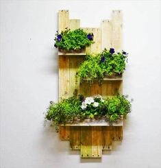 pallet- wall hanging planter