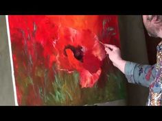 Paint poppies.Very ease oil painting. Russian Bob Ross. Full video tutorial from Sakharov