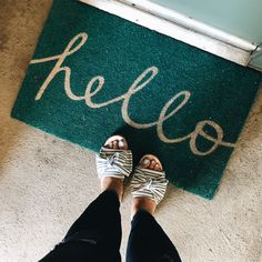 Adorable calligraphy front door mat by Target! Shop by clicking this link. #affiliate #targetstyle