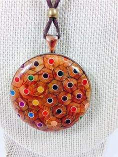 Colored Pencil Pendant