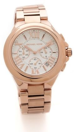 On my wish list: Michael Kors Camille rose watch. The epitome of chic.