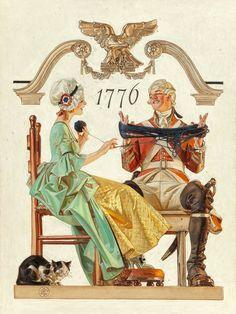 SHEAR [in-spuh-rey-shuhn], J.C. LEYENDECKER Saturday Evening Post Cover Oil...