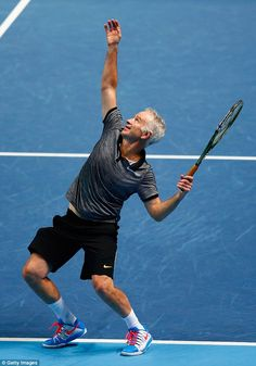 John McEnroe (pictured) is a three-time Wimbledon winner and still plays tennis with peopl...