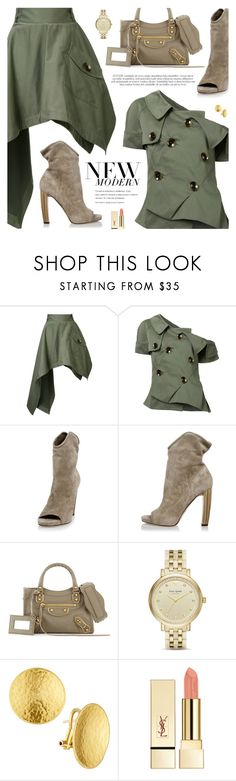 """""""New Modern"""" by pokadoll ❤ liked on Polyvore featuring Monse, Jimmy Choo, Balenciaga, Kate Spade, Gurhan, PUR, modern, polyvoreeditorial and polyvoreset"""