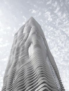 Aqua Tower, Chicago by Studio Gang. Completed 2004.