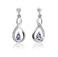 Silver and Tanzanite Earrings *Prices Valid Until 25 Dec 2013 competition Gold Jewelry, Fine Jewelry, Tanzanite Earrings, Competition, Silver Rings, Drop Earrings, Diamond, Bracelets, Christmas
