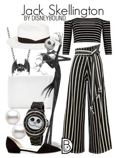 Jack Skellington by leslieakay on Polyvore featuring polyvore, fashion, style, Giorgio Armani, Mark Cross, Madstone, rag & bone, Disney, clothing, disney, disneybound and disneystyle