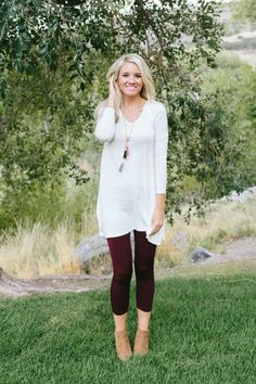 This flowy A-line tunic is prefect for any fall day. Dress it up with printed leggings or dress it causal with your favorite pair of skinnies.