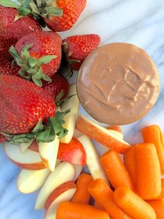 Chocolate Peanut Butter Fruit Dip - thelemonbowl.com  #glutenfree #snack #chocolate
