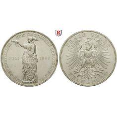 Frankfurt, Stadt, Vereinstaler 1862, vz+/f.vz: Vereinstaler 1862. Schützenfest. AKS 44; vorzüglich + / fast vorzüglich, kl. Kratzer… #coins