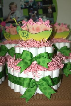 Peas in a pod baby shower Decorations Diaper cake