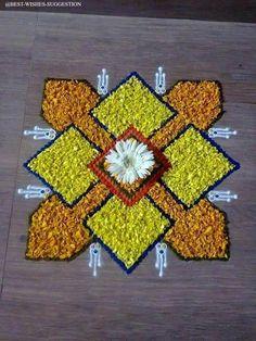 Easy Rangoli Designs Diwali, Rangoli Designs Latest, Simple Rangoli Designs Images, Rangoli Ideas, Colorful Rangoli Designs, Diwali Rangoli, Beautiful Rangoli Designs, Indian Rangoli, Diwali Diy