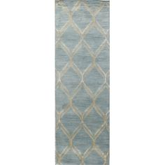 "Meridian Rugmakers Kandla Hand-Tufted Light Blue Area Rug Rug Size: 5'6"" x 8'6"""